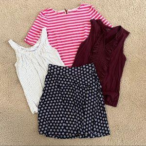 LOFT Tops and Skirt Bundle